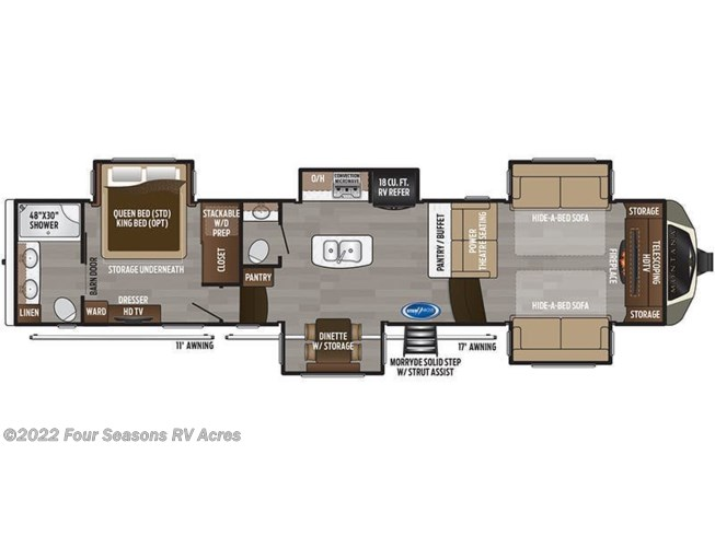 Floorplan of 2020 Keystone Montana 3760FL