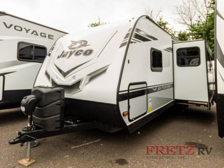 <h2>New 2021 Jayco Jay Feather 25RB Travel Trailer</h2><br /><p><strong>WE CAN ONLY ADVERTISE MSRP, CALL OR EMAIL US FOR OUR INTERNET PRICE!</strong></p><br /><p>This unit includes Jayco's Customer Value Package, 8 cu. ft. 12V refrigerator, 30#  LP gas bottles, Morryde step above steps &, theater seating w/table trays.</p><br /><p>Jayco Jay Feather travel trailer 25RB highlights:</p><br /><ul><br /><li>Rear Bath</li><br /><li>Private Bedroom</li><br /><li>Booth Dinette</li><br /><li>L-Shaped Kitchen</li><br /><li>Dexter Axles</li><br /><li>Goodyear Tires</li><br /></ul><br /><p> </p><br /><p>How does a spacious rear bathroom with plenty of storage and a radius shower, plus a space savings door sound to you after a hot day hiking the trails?  You can walk up the aluminum-tread entry steps to enter near the bathroom to get cleaned up before heading to your front bedroom with a walk-around queen bed and more storage.  Someone can then make lunch using the microwave, or the Furrion range including an oven and three burner recessed glass cooktop.  And the walk-in pantry allows you to stock up on all the snacks and ingredients you will need no matter how long you plan to stay at the campgrounds.  </p><br /><p> </p><br /><p>The Jayco Jay Feather travel trailers offer a front molded fiberglass cap with enhanced graphics package, JaySMART backup lighting, and more mandatory features from the Sport package.  Stronghold VBL vacuum-boned, laminated floor, side, rear and slide room walls are included on the American-made Norco frame with integrated A-frame.  Inside you will find smoked glass decorative inserts in select overhead cabinets, ball-bearing drawer glides, a Jayco exclusive mattress with bedspread on select models, and more!  Choose your favorite floorplan, and start a new adventure!</p><br /><p>Fretz RV is the highest rated volume Jayco Dealer in PA. For over 35 years, Fretz RV has represented the Jayco product line from pop up campers, Jayco Travel Trailer, Fifth Wheel, Jayco Greyhawk, and Jayco Class A motorhomes. Come in to Pennsylvania's top Jayco dealer and let us help you make a great deal on the Jayco of your choice. We also have the area's largest selection of used RV's, and offer great financing options as well. So, if you are in the York, Harrisburg, Lancaster, Philadelphia, Allentown, New Jersey, New York, or Maryland region; stop by and browse our huge Jayco RV inventory today.</p><br /><p> </p><br /><p><strong> </strong></p><ul><li>Front Bedroom</li><li>Rear Bath</li></ul>