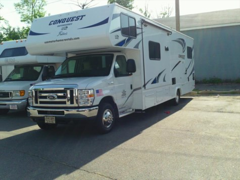 Used 2017 Gulf Stream Conquest 63111 For Sale by Fuller Motorhome Sales & Rentals available in Boylston, Massachusetts
