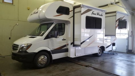 Used 2018 Thor Motor Coach Four Winds Sprinter 24FS For Sale by Fuller Motorhome Sales & Rentals available in Boylston, Massachusetts