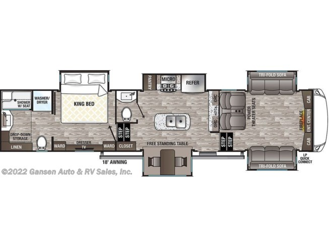 2021 Forest River Cedar Creek Silverback Edition 37FLB - New Fifth Wheel For Sale by Gansen Auto & RV Sales, Inc. in Riceville, Iowa