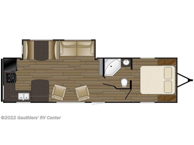 2017 Heartland RV Trail Runner TR 27 RKS floorplan image