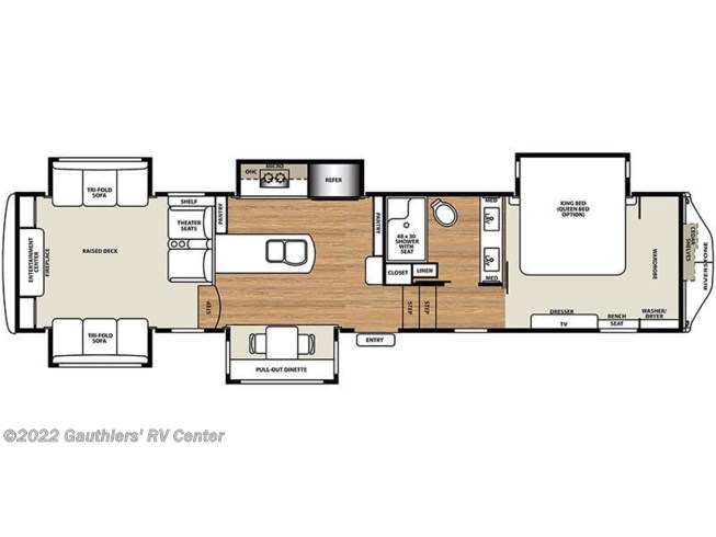 2018 Forest River Riverstone Legacy 38RE floorplan image