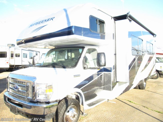 2019 Forest River Sunseeker 3010DSF - New Class C For Sale by Gauthiers' RV Center in Scott, Louisiana features Air Conditioning, Auxiliary Battery, Awning, Backup Monitor, CD Player, CO Detector, DVD Player, Exterior Speakers, External Shower, Generator, Hitch, Ladder, LP Detector, Medicine Cabinet, Microwave, Oven, Power Roof Vent, Queen Bed, Refrigerator, Roof Vents, Shower, Skylight, Slideout, Slide-out Awning, Smoke Detector, Spare Tire Kit, Stove Top Burner, Toilet, TV, U-Shaped Dinette, Water Heater