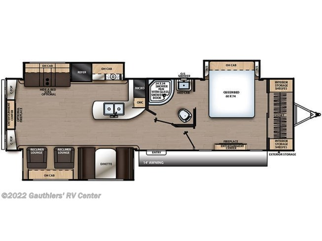Floorplan of 2020 Coachmen Catalina Legacy Edition 333RETS