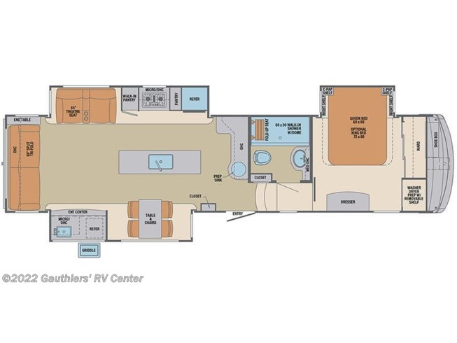 Floorplan of 2021 Palomino Columbus 366RL