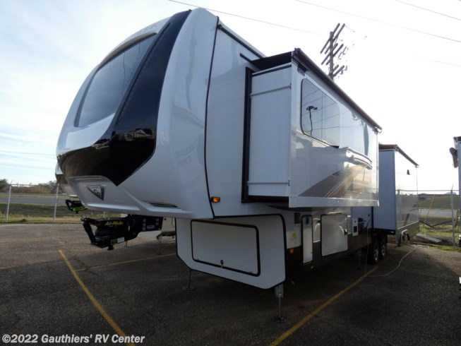 2021 Forest River Cedar Creek Champagne Edition 38EBS - New Fifth Wheel For Sale by Gauthiers' RV Center in Scott, Louisiana features Stove Top Burner, Air Conditioning, Medicine Cabinet, Outside Entertainment Center, Ladder