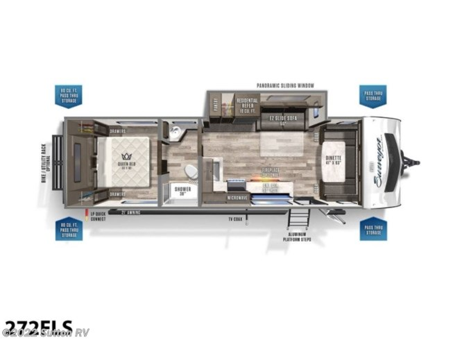 New 2021 Forest River Surveyor Luxury 272FLS available in Eugene, Oregon