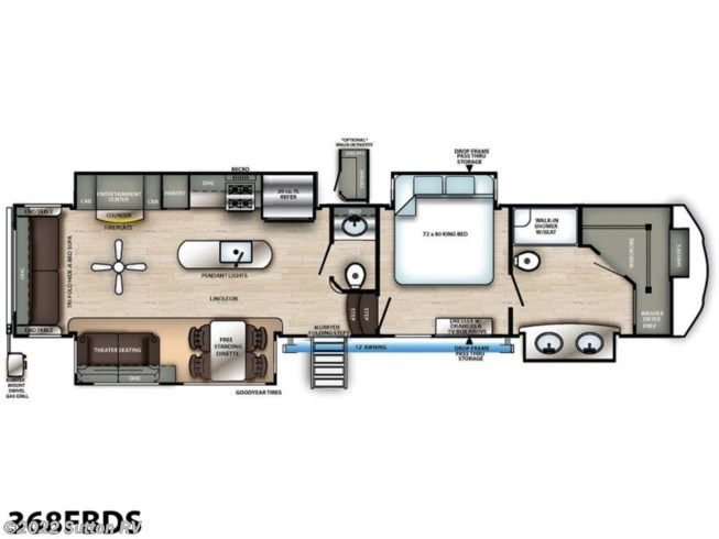 2021 Forest River Sandpiper Luxury 368FBDS - New Fifth Wheel For Sale by Sutton RV in Eugene, Oregon