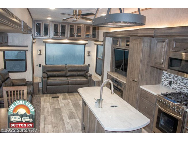 2021 Sandpiper Luxury 368FBDS by Forest River from Sutton RV in Eugene, Oregon