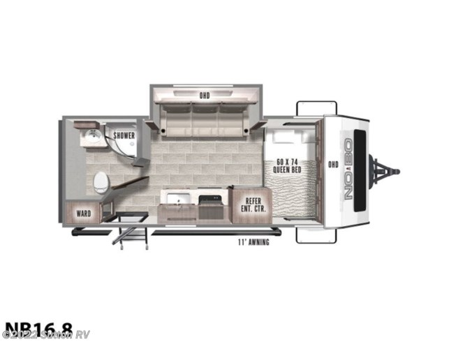2021 Forest River No Boundaries 16 Series NB16.8 - New Travel Trailer For Sale by Sutton RV in Eugene, Oregon