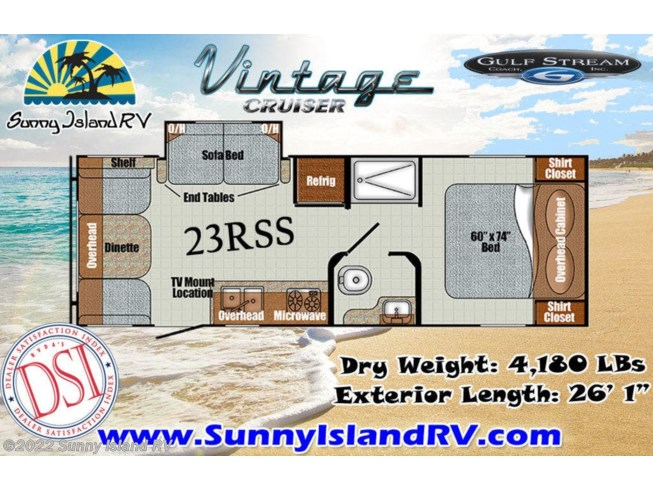 2020 Gulf Stream 23RSS - New Travel Trailer For Sale by Sunny Island RV in Rockford, Illinois
