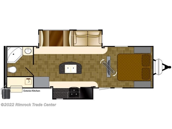 2017 Heartland Wilderness WD 2775RB floorplan image