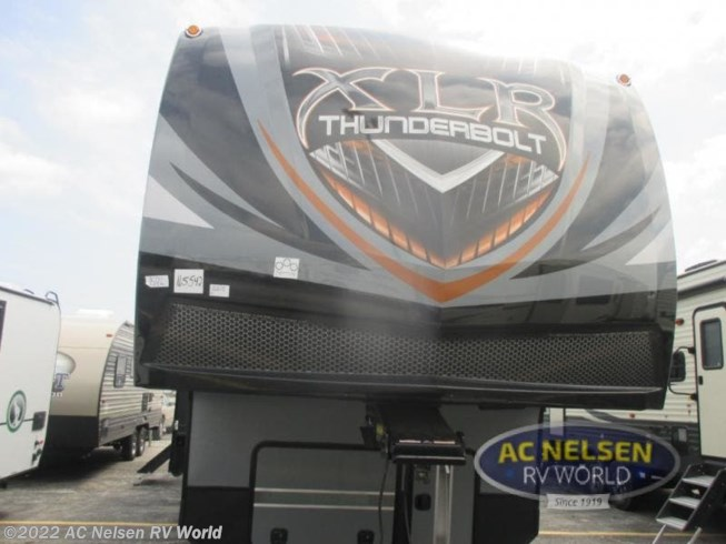 2019 Forest River XLR Thunderbolt 382AMP - New Toy Hauler For Sale by AC Nelsen RV World in Omaha, Nebraska features Slideout