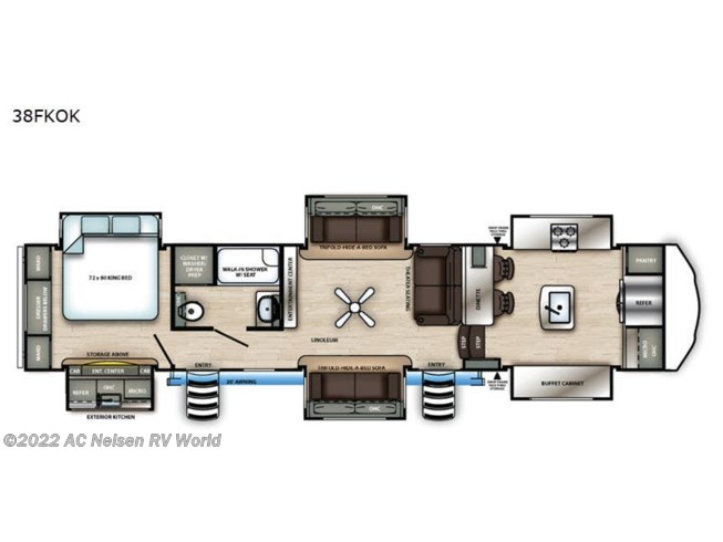 New 2021 Forest River Sandpiper 38FKOK available in Omaha, Nebraska