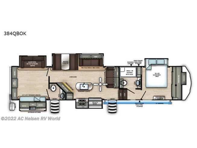 2021 Forest River Sandpiper 384QBOK - New Fifth Wheel For Sale by AC Nelsen RV World in Omaha, Nebraska features Slideout
