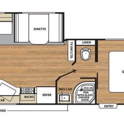 2018 Coachmen Catalina SBX 251RLS floorplan image
