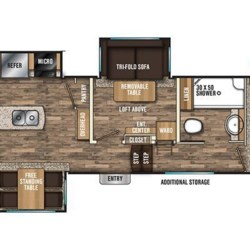 2018 Coachmen Chaparral 392MBL floorplan image