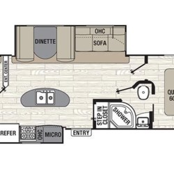 2017 Coachmen Freedom Express Liberty Edition 320BHDSLE floorplan image