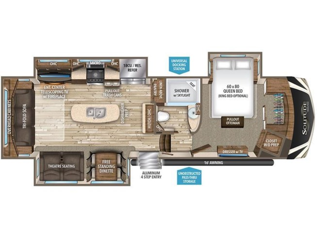 2017 Grand Design Solitude 310GK floorplan image