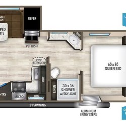 2017 Grand Design Imagine 2500RL floorplan image
