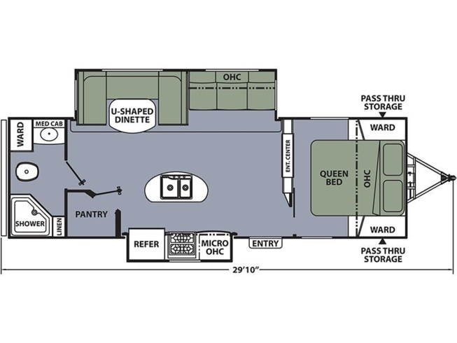 2017 Coachmen Apex 269RBSS floorplan image