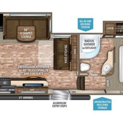 2017 Grand Design Reflection 28BH floorplan image