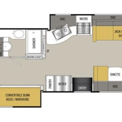 2017 Coachmen Pursuit 33BH floorplan image