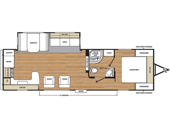 2017 Coachmen Catalina 283RKS floorplan image