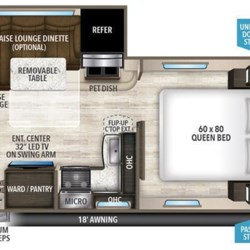 2018 Grand Design Imagine 2150RB floorplan image