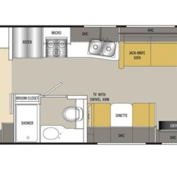 2017 Coachmen Pursuit 30FW floorplan image