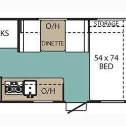 2018 Coachmen Clipper 17BH floorplan image