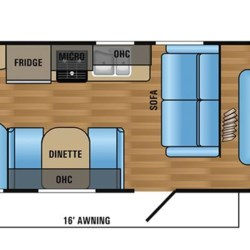 2018 Jayco Jay Flight SLX 264BHW floorplan image