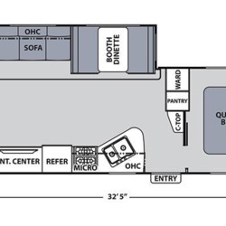 2018 Coachmen Apex 287BHS floorplan image