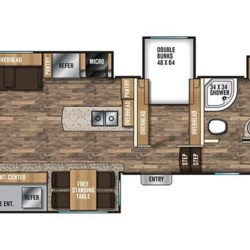 2018 Coachmen Chaparral 373MBRB floorplan image