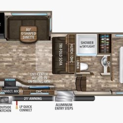 2018 Grand Design Reflection 290BH floorplan image