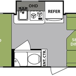 2018 Forest River R-Pod RP-178 floorplan image