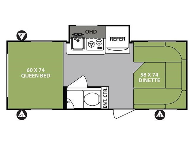 Floorplan of 2018 Forest River R-Pod RP-178
