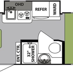 2019 Forest River R-Pod RP-189 floorplan image