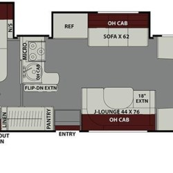2019 Coachmen Leprechaun 260DS floorplan image