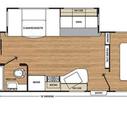 2017 Coachmen Catalina 293QBCK floorplan image