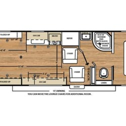 2019 Coachmen Catalina Trail Blazer 26TH floorplan image