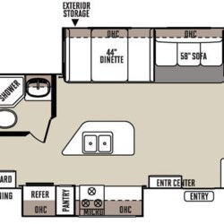 2015 Forest River Rockwood Roo 23IKSS floorplan image