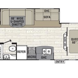 2018 Coachmen Freedom Express 29SE floorplan image