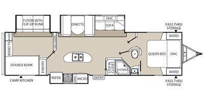 2014 Coachmen Freedom Express 320 BHDS floorplan image