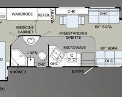 2009 Holiday Rambler Admiral 35SFD floorplan image