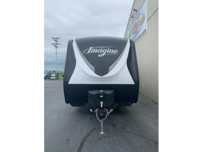 2020 Grand Design Imagine 3000QB - New Travel Trailer For Sale by Delmarva RV Center in Milford, Delaware features Air Conditioning, Batteries, Exterior Speakers, Fiberglass Sidewalls, Microwave, Oven, Power Awning, Screen Door, Slideout, Stabilizer Jacks, Stove