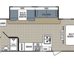 2016 Dutchmen Kodiak Express 299BHSL floorplan image