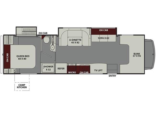 2020 Coachmen Leprechaun 319MB floorplan image