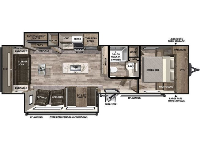 2021 Forest River Vibe 28RL floorplan image